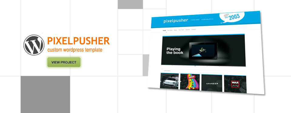 PIXELPUSHER - Wordpress custom template