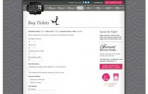 Screenshot of Mirrorball WordPress CMS buy tickets page.