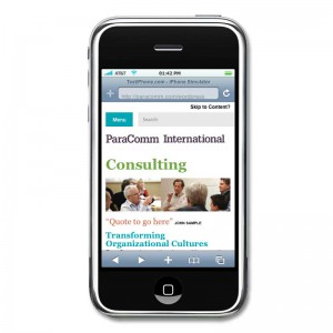 Screenshot of Paracomm Wordpress mobile responsive template
