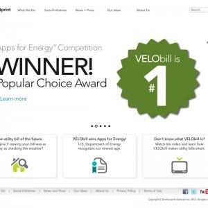Screenshot of Zerofootprint Wordpress CMS home page template