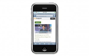 A screenshot demonstrating how the Zerofootprint responsive template automatically adapts to fit mobile devices.